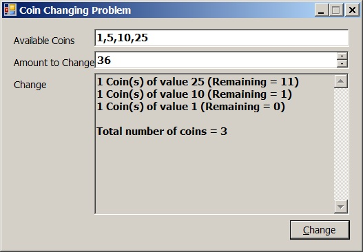 The Coin Changing Problem! | Ali Tarhini